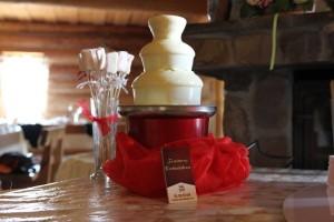 mała fontanna czekoladowa