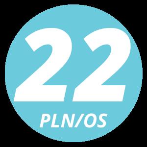 22 pln/os